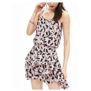 { banana republic } paint splotch ruffle dress